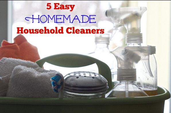 When you are working toward staying on budget and saving money you quickly realize that basic household supplies play a huge part in where your money goes.  Here are 5 Easy Homemade Household Cleaners including the classic homemade powdered laundry detergent, an all purpose cleaner, fabric softener and even a stove top cleaner for counters, stoves and more.