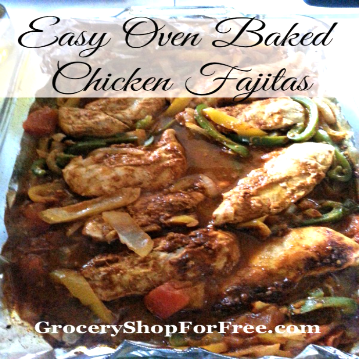Easy Oven Baked Chicken Fajitas!
