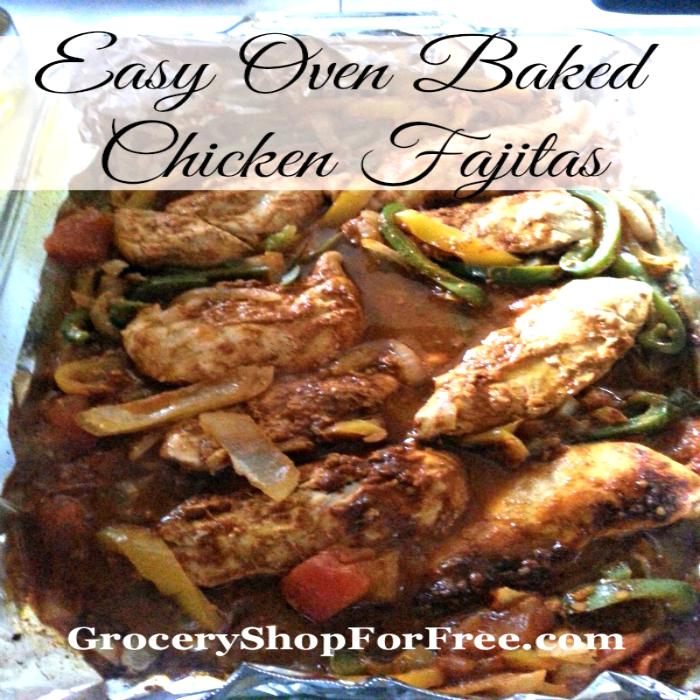 Easy Oven Baked Chicken Fajitas!