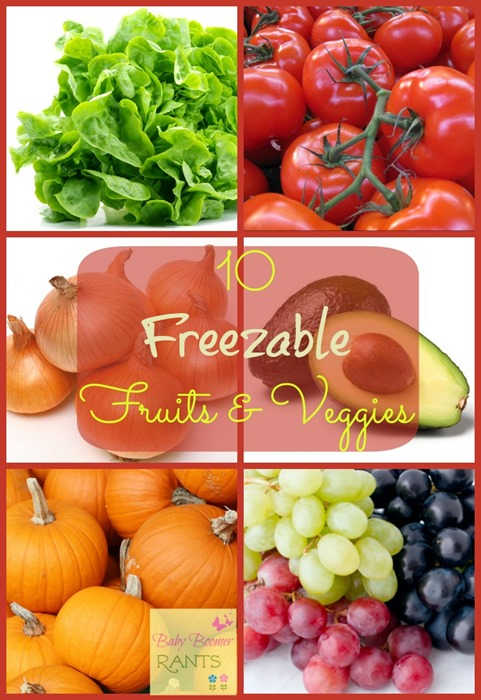 You may find this list of 10 Freezable Fruits And Vegetables surprising.  Some of them I never thought of freezing, but it works!
