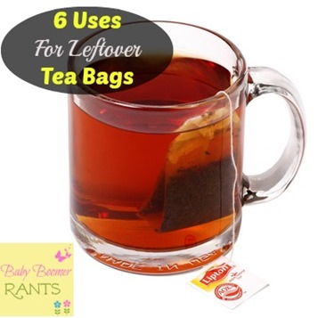 6 Little Known Uses For Leftover Tea Bags!