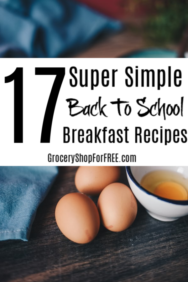 If you need super simple but delicious back to school breakfast ideas then this is what you're looking for! Click through to see 17 super simple back to school breakfast recipes.