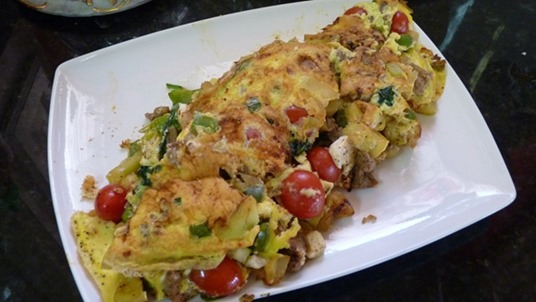 Hearty Vegetable and Turkey Sausage Frittata