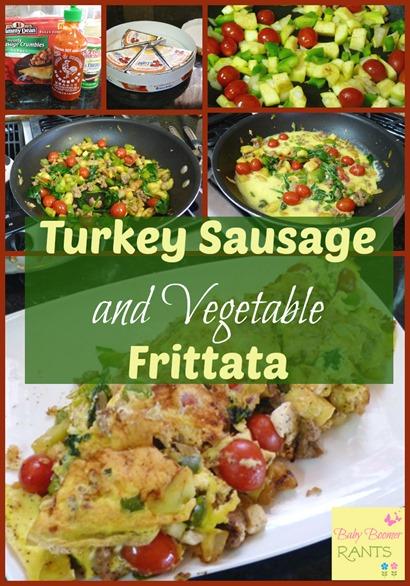 Turkey Sausage and Vegetable Frittata