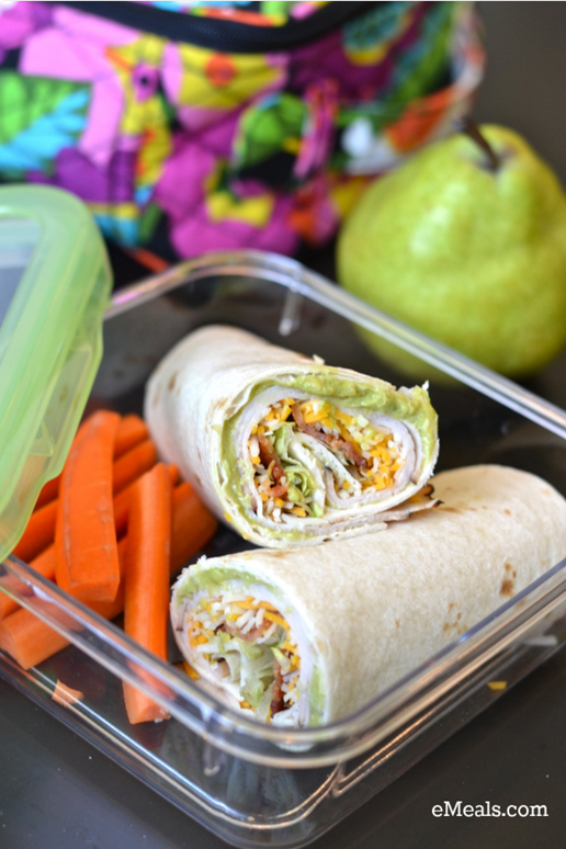 Turkey-Bacon Tortilla Roll-Ups And More Back To School recipes From eMeals!