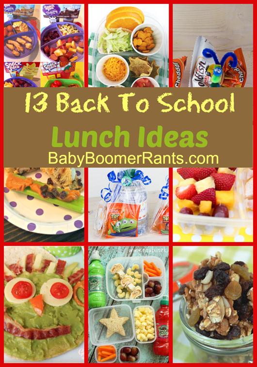 13 Back To School Lunch Ideas