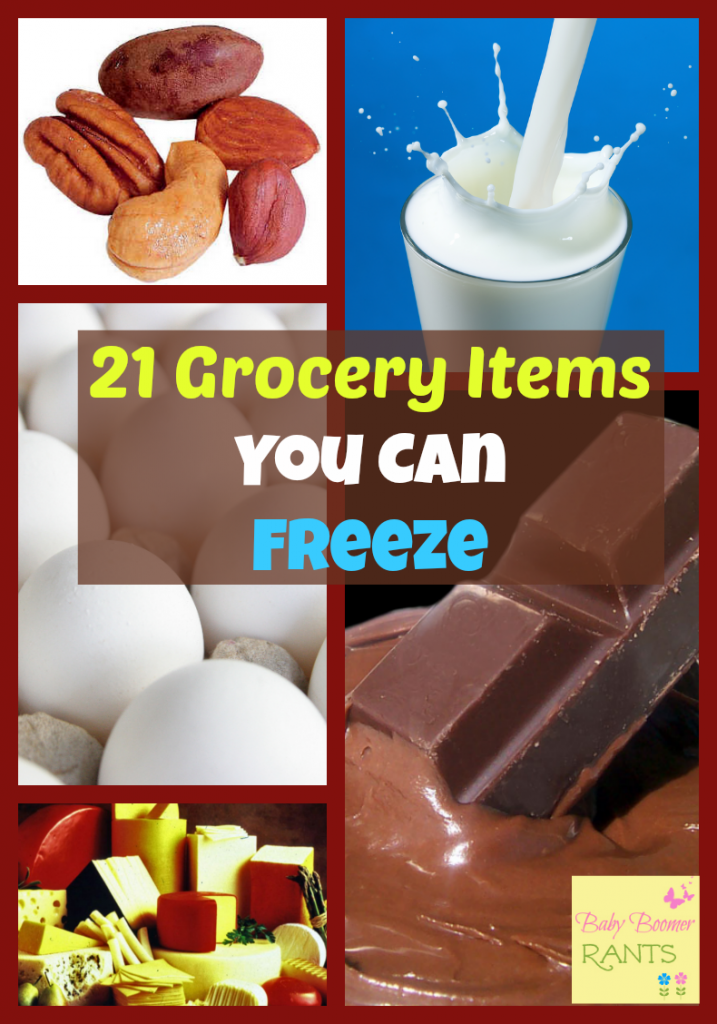 When we had 4 kids at home I often wanted to buy extra when there was a good sale, but, I was always afraid it would spoil before we would use it.  So, I learned a lot about what I could freeze.  Check out these 21 Grocery Items You Can Freeze!
