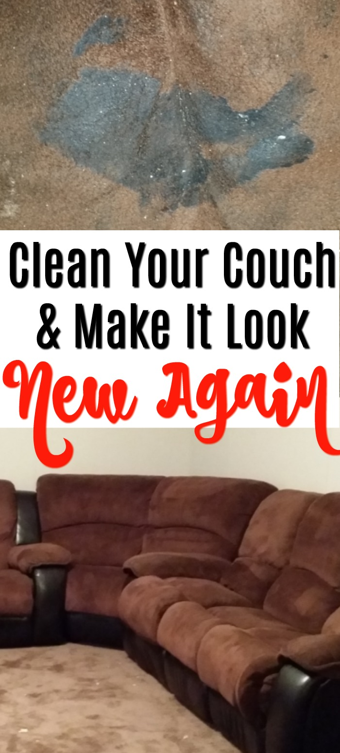How to clean your couch and make it new again!