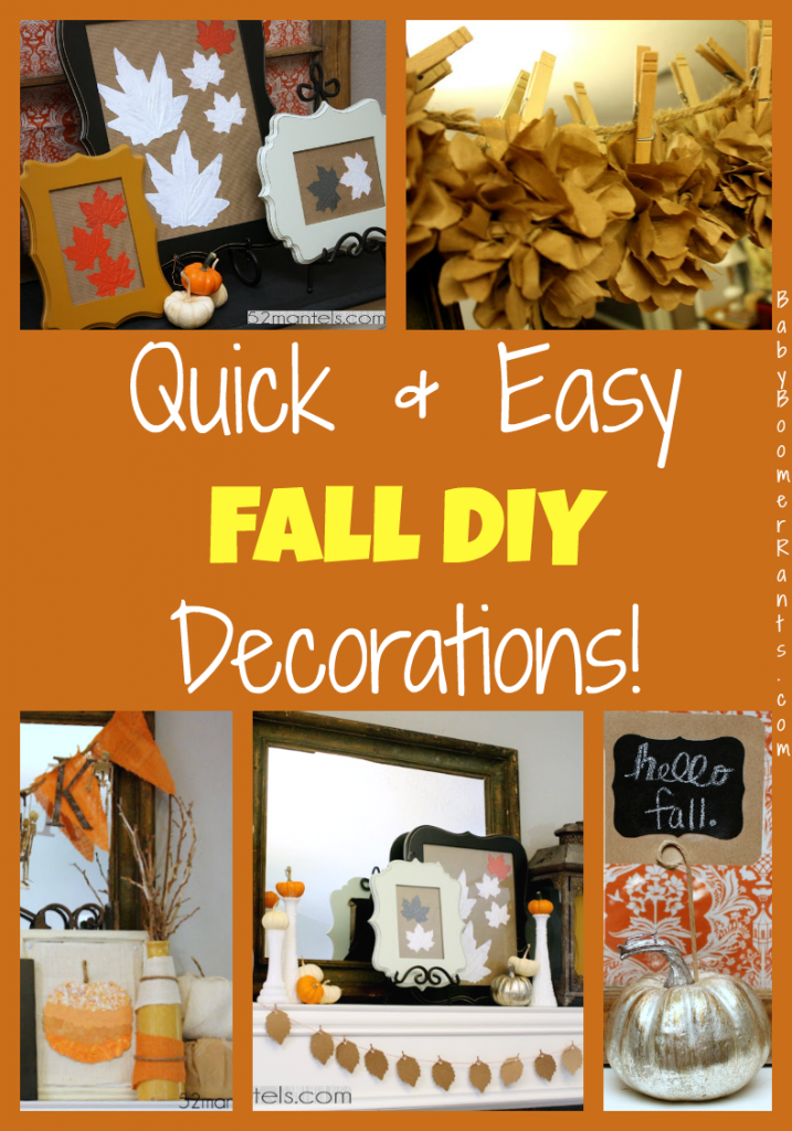Quick And Easy Fall DIY Decorations