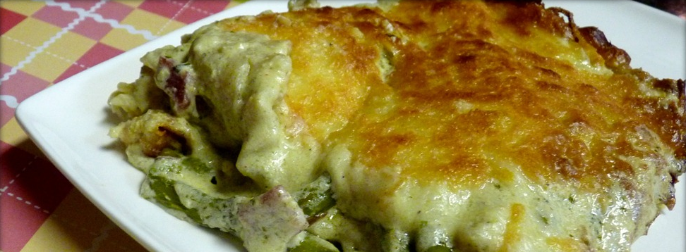 Asparagus Lasagna With A Basil Spinach Pesto