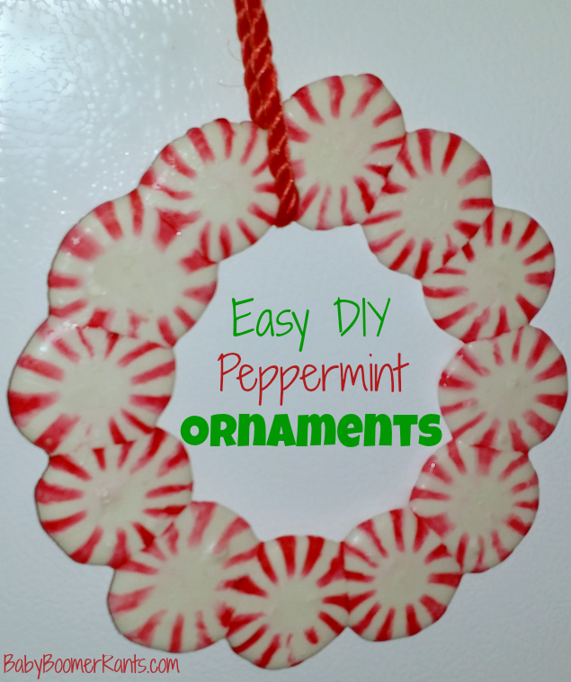 Easy DIY Peppermint Ornaments