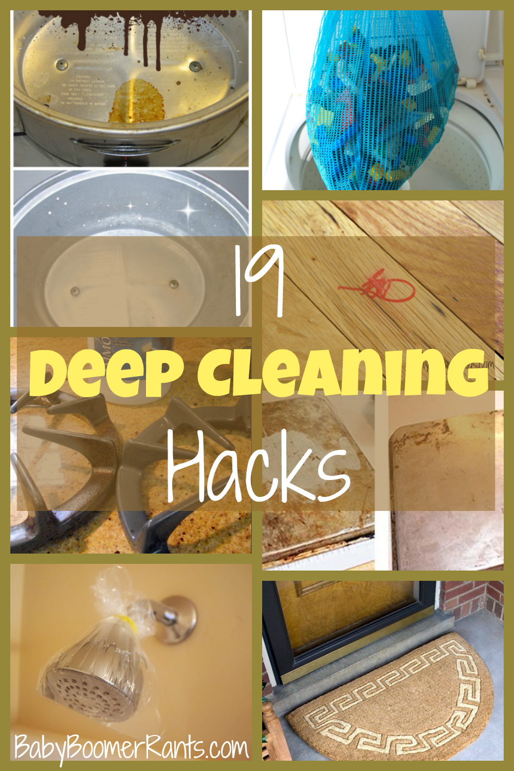 Check out these 19 Deep Cleaning Hacks!  The everyday cleaning is easy, but, these hacks will help make your deep cleaning easy, too!