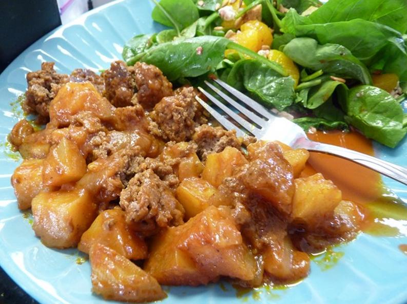 Potatoes With Meatballs