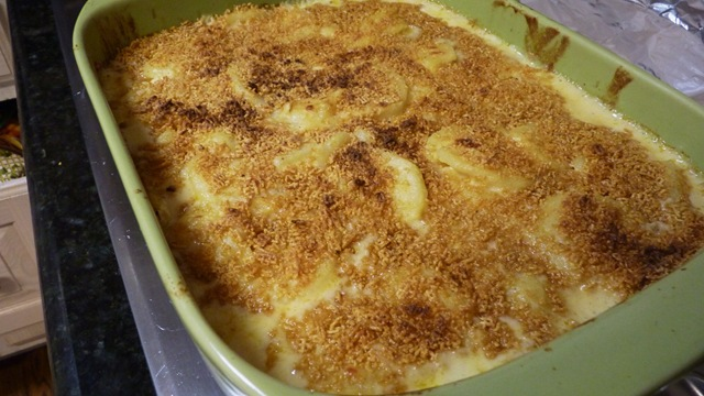 Cheesey Bechamel Smothered Scalloped Potatoes