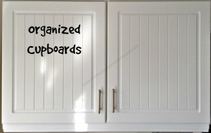 Organized Cupboards