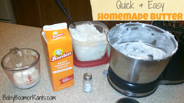 Quick And Easy Homemade Butter