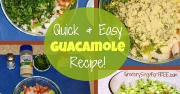 Quick & Easy Homemade Guacamole Recipe!