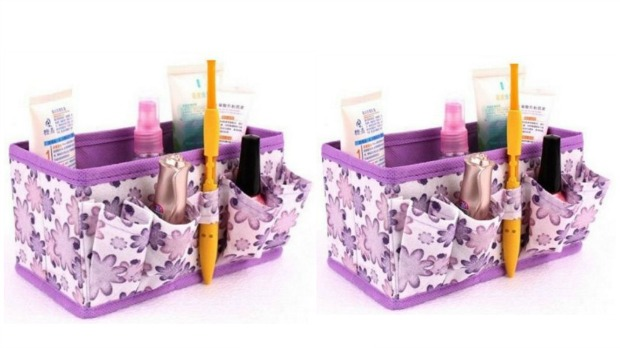 Floral Cosmetic Organizer