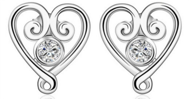 Heart Crystal Earrings Fashion