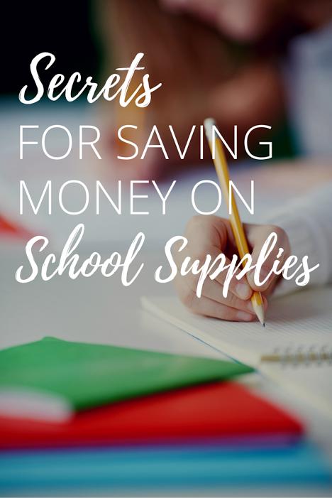 Secrets For Saving Money On School Supplies