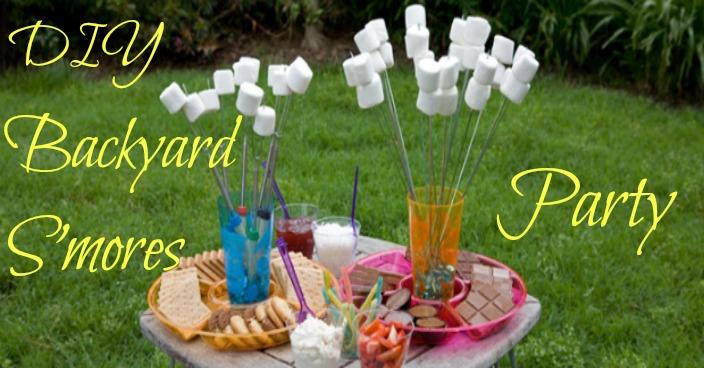 DIY Backyard S'mores Party!