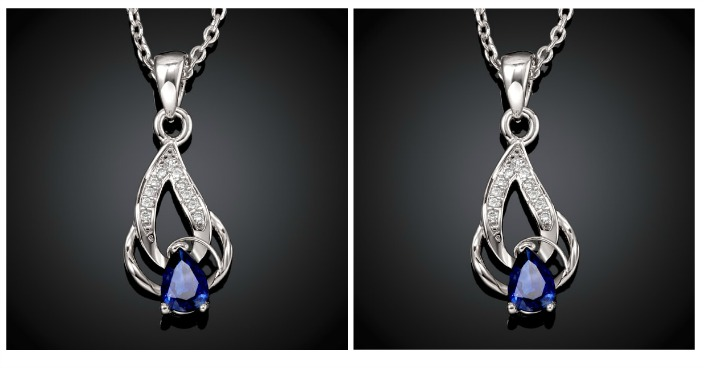 White Gold Pear-Cut Sapphire Necklace Just $6.99! Down From $200! Ships FREE!