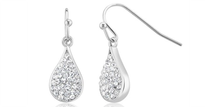 Gold Plated Crystal Teardrop Earrings Just $7.99! Down From $130! Ships FREE!