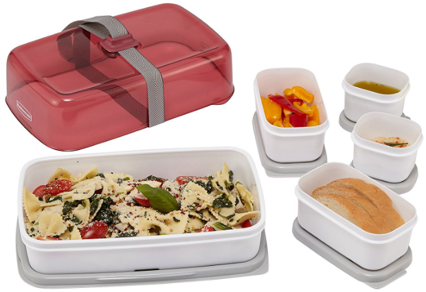 Rubbermaid Fasten + Go Entree Kit, Lunch Containers, Marsala