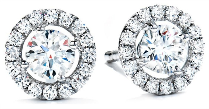 White Gold Plated CZ Halo Studs Just $5.99! Down From $90! Ships FREE!