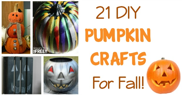 21 DIY Pumpkin Crafts For Fall!
