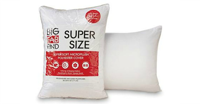 Big Fab Find Supersize Jumbo Fiber Pillow Just $4.99! Down From $10!