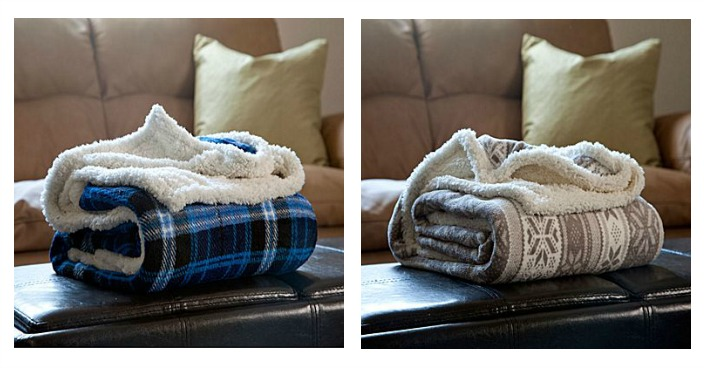 Lavish Home Fleece Sherpa Blanket Throw Just $9.99! Down From $35!