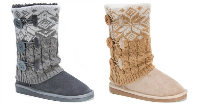MUK LUKS Women's Cheryl Boots Just $17.88! Down From $65!
