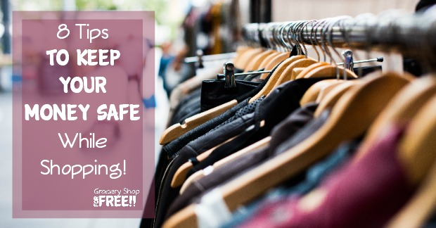 Are you a safe shopper?  Do you take precautions to protect your identity and banking information? Here are 8 tips to keep your money safe while you shop!
