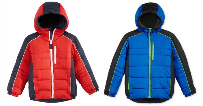 Boys' Protection System Hooded Puffer Jacket Only $19.99! Down From $80!