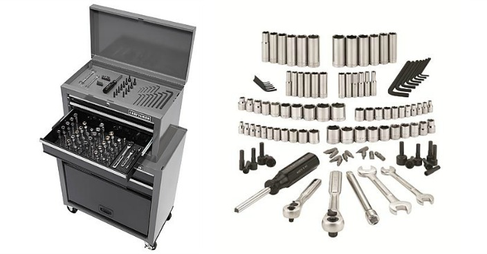 Craftsman Tool Center with Mechanics Tool Set Only $68.60! Down From $160!