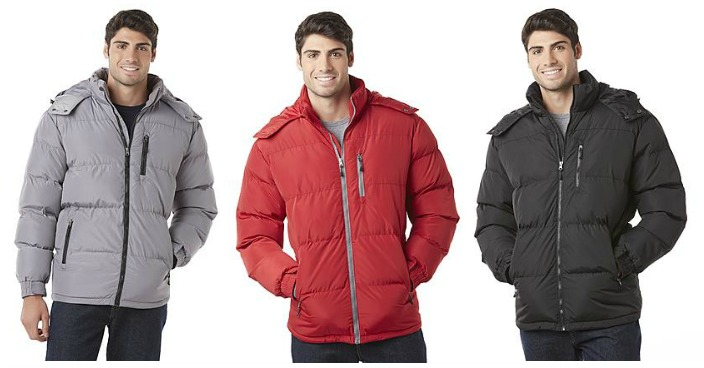 Men's Hooded Puffer Jackets Only $15.99! Down From $80!