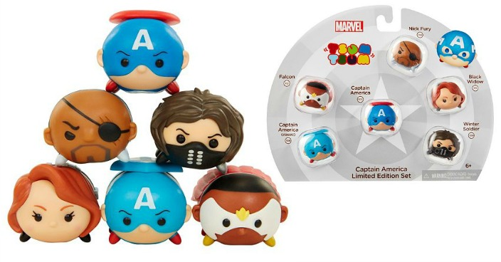 Tsum Tsum Marvel Captain America 6-Pack Only $8.39! Down From $20!