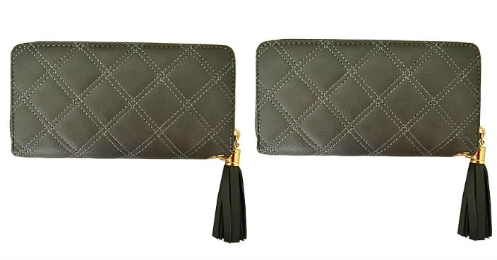 FREE Women's Quilted Checkbook Wallet!
