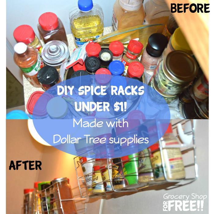 DIY Dollar Tree Spice Rack Under $1!