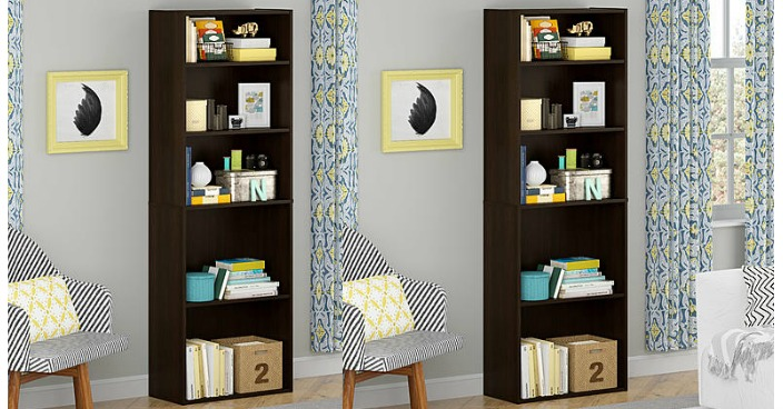 Good To Go 5 Shelf Bookcase Only $2.80! Down From $39!