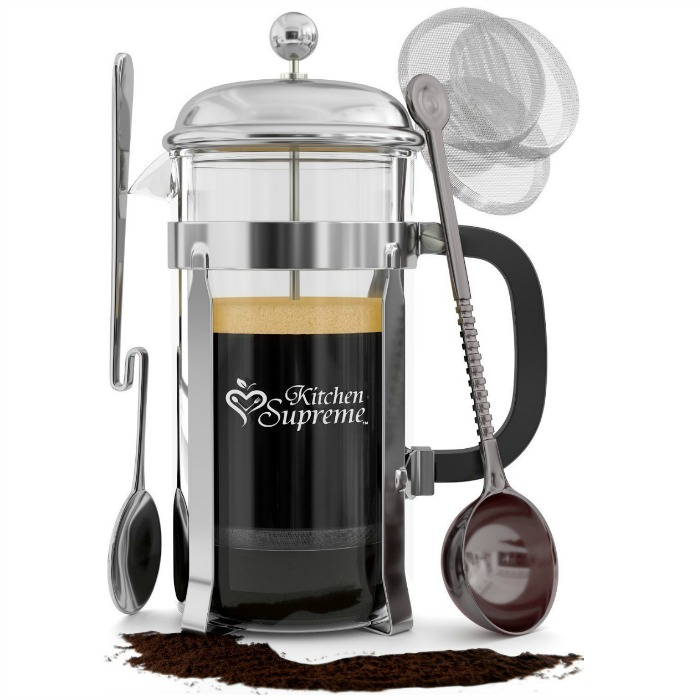 French Press Coffee & Tea Maker Complete Bundle Just $24.84! Down From $72!