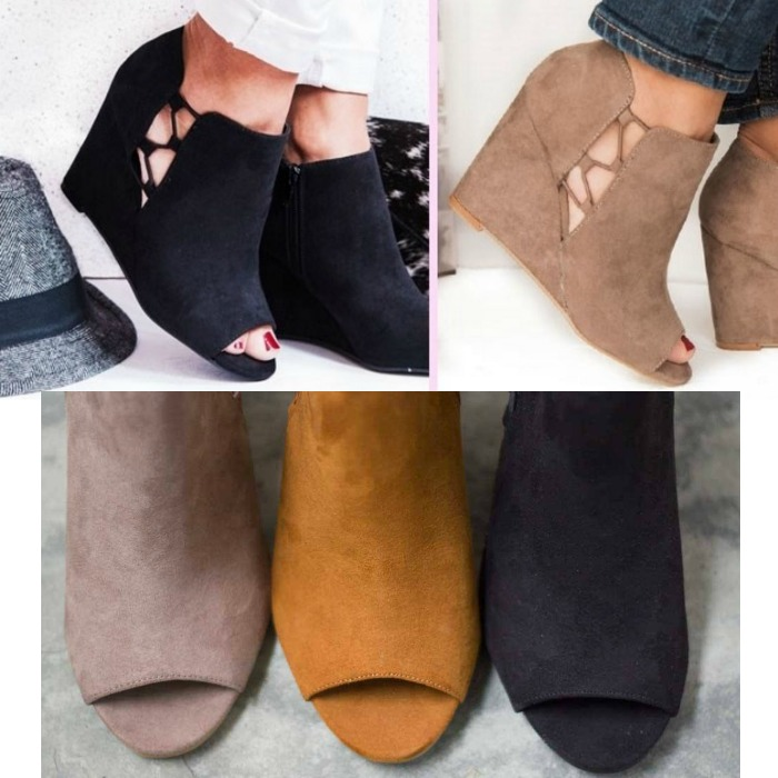 Peep Toe Fashion Wedges In 3 Colors Just $28.99! Down From $65!