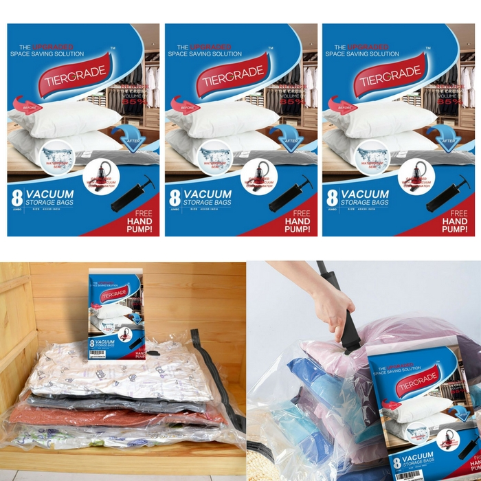 Tiergrade Premium Jumbo Vacuum Storage Bags Just $15.49! Down From $62.99!