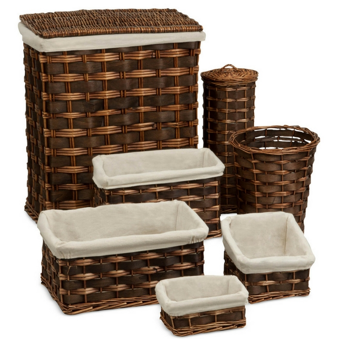 7-Piece Wicker Hamper & Basket Set Just $59.99! Down From $100!