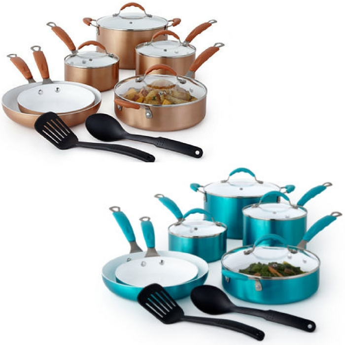 Cooks 12-Piece Ceramic Cookware Set Just $84.99! Down From $200!