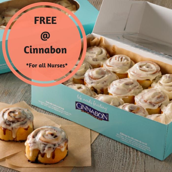 FREE Cinnabon For Nurses!
