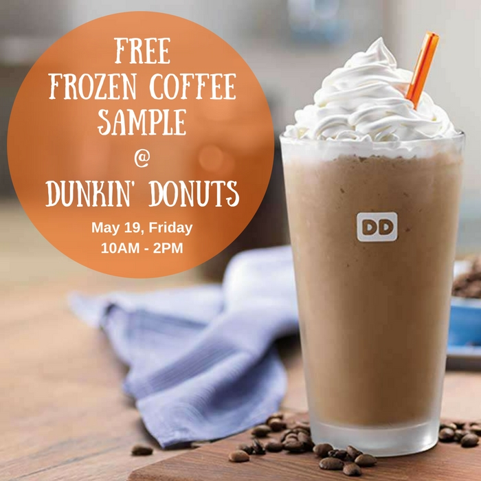 FREE Sample Frozen Dunkin' Coffee!