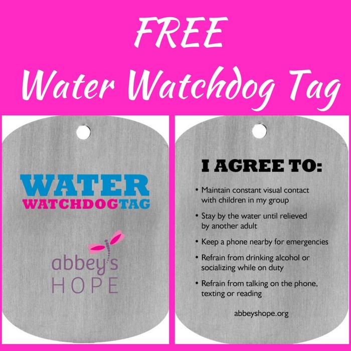 FREE Water Watchdog Tag!