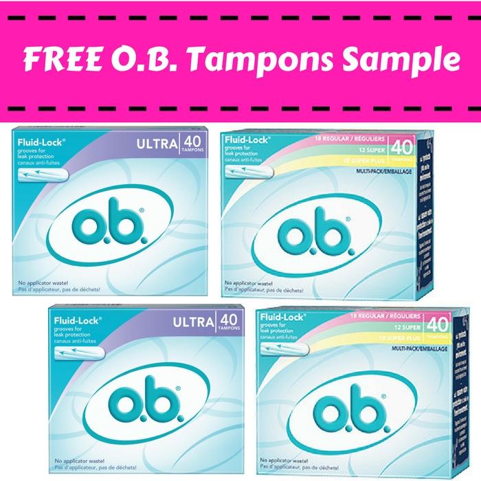 FREE O.B. Original Super Tampons!